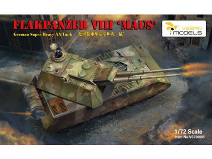Flakpanzer VIII Maus - German Super Heavy AA Tank 1:72