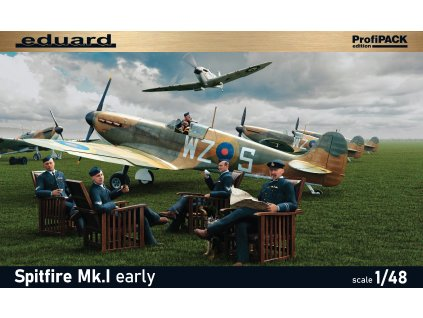 82152 SpitfireMk.I early BOX PRINT víko krabice