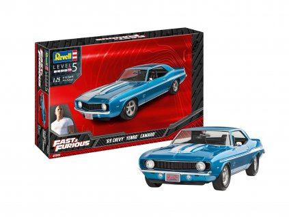 Plastic ModelKit auto 07694 Fast Furious 1969 Chevy Camaro Yenko 1 25 a119007388 10374