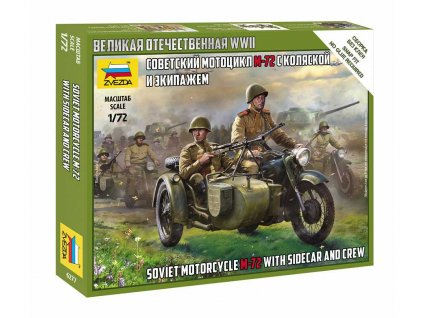 Wargames WWII figurky 6277 Soviet M 72 Sidecar Motorcycle w Crew 1 72 a120129824 10374