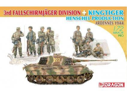 Model Kit tank 7400 3rd Fallschirmjager Division Kingtiger Henschel Turret 1 72 a122682340 10374