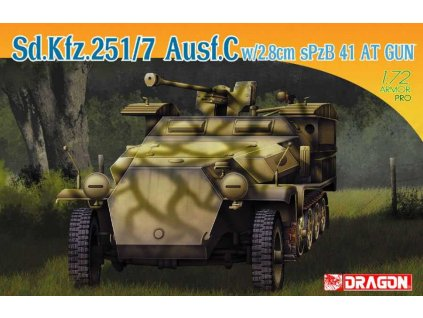 Model Kit military 7315 Sd Kfz 251 7 Ausf C w 2 8cm sPzB41 AT Gun 1 72 a115855245 10374