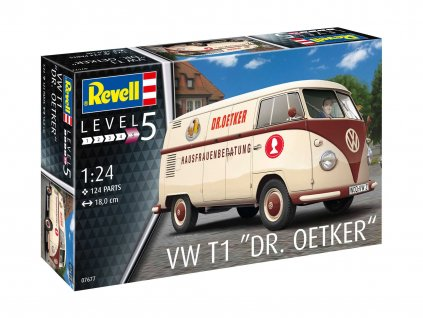 Plastic ModelKit auto 07677 VW T1 Dr Oetker 1 24 a119007346 10374