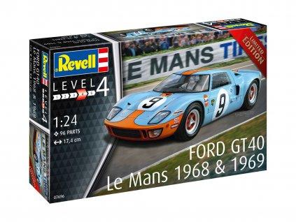 Plastic ModelKit auto 07696 Ford GT 40 Le Mans 1968 1 24 a119007394 10374