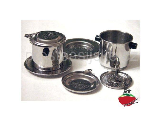 Kávový překápávací Phin filtr na Trung Nguyen kávu