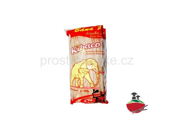 Rýžové nudle široké Kibaco 200g