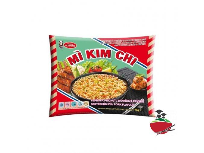 Instantní nudle Kim Chi s příchutí vepřového 5ks / 1balení