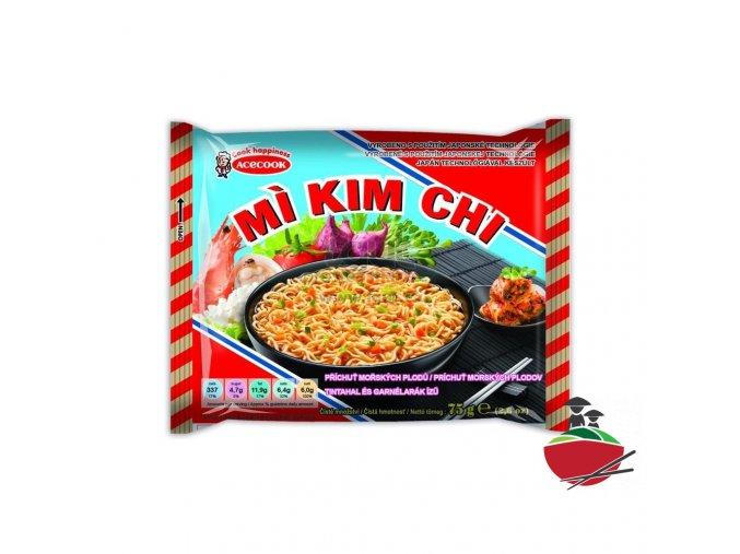Instantní nudle Kim Chi s příchutí mořských plodů 5ks / 1balení (HAI SAN)