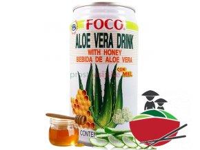 Aloe Vera s medem FOCO 350ml
