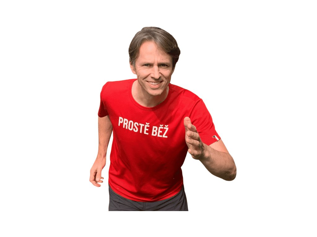 Funkční červené triko PROSTĚ BĚŽ! Alpine PRO