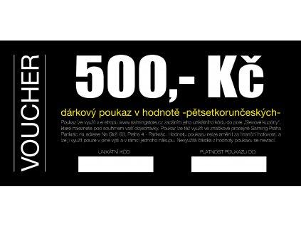 Dárkový voucher v hodnotě 500 Kč