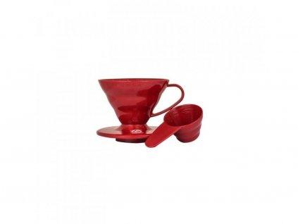 3266 hario dripper v60 vd 01r red plastic