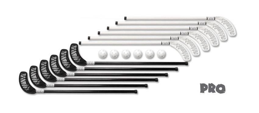 Florbalové hole Unihoc Set PRO 90 cm 12 + 6 míčků