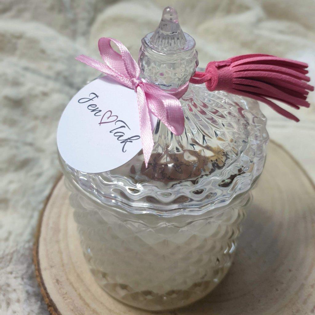 Svíčka v luxusním broušeném skle - malá