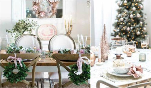 Barevné kombinace pro vánoční tabuli