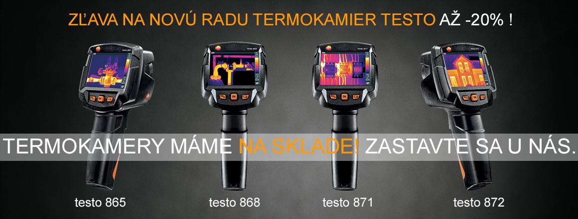 Nové termokamery Testo 865, 868, 871 a 872. ProTechnika.sk, Testo Bratislava, teplomery, vlhkomery, termokamery, Saveris