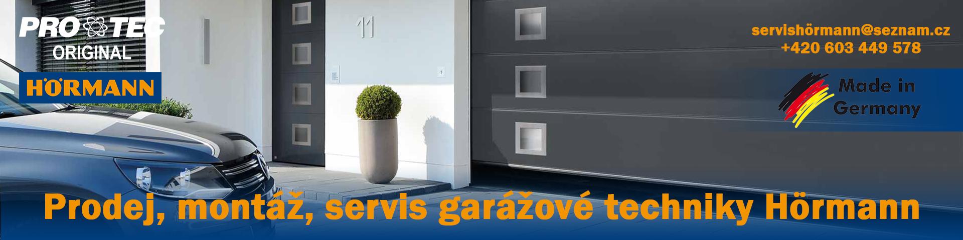 Prodej, montáž, servis garážové techniky Hörmann servishörmann@seznam.cz, 603449578