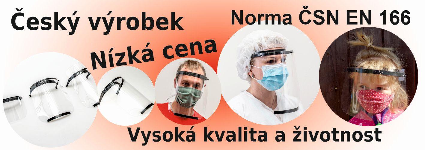 Český výrobek, vysoká kvalita, nízká cena, norma ČSN EN 166