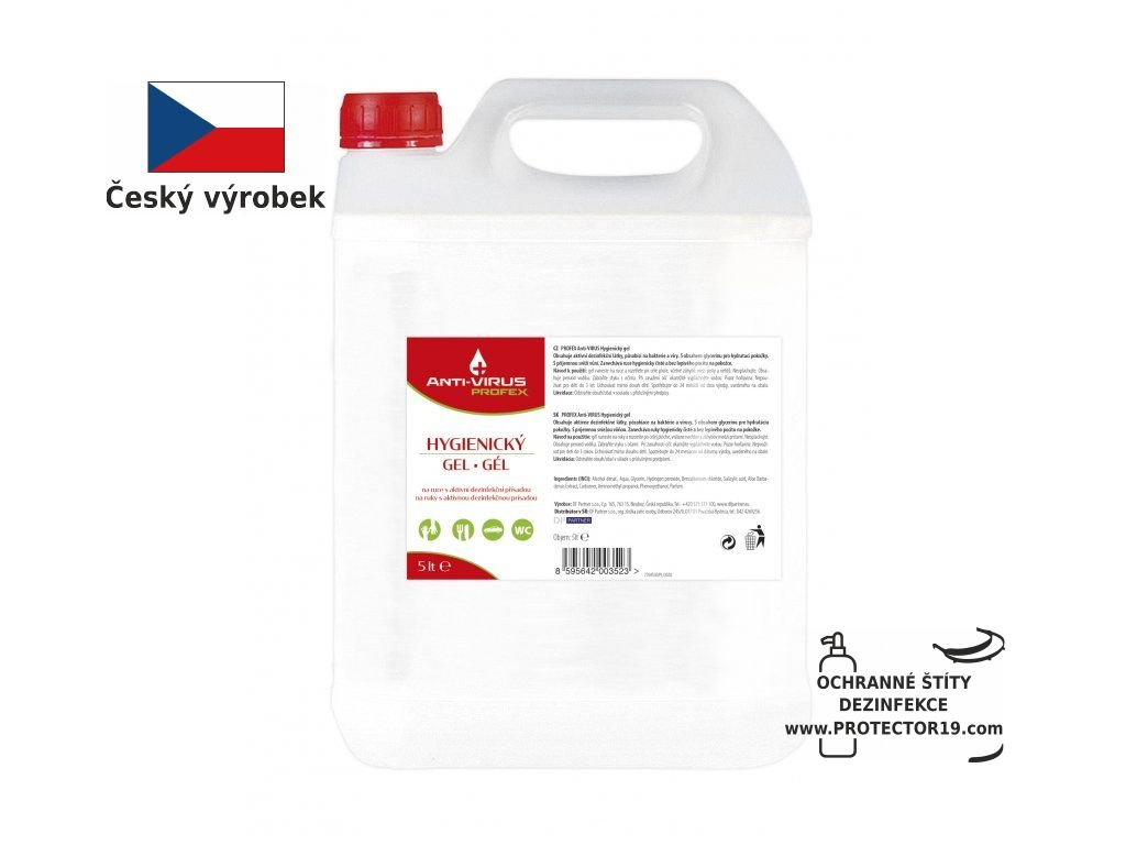 147 1814550 profex anti virus hygienicky gel na ruce 5 lt protector19