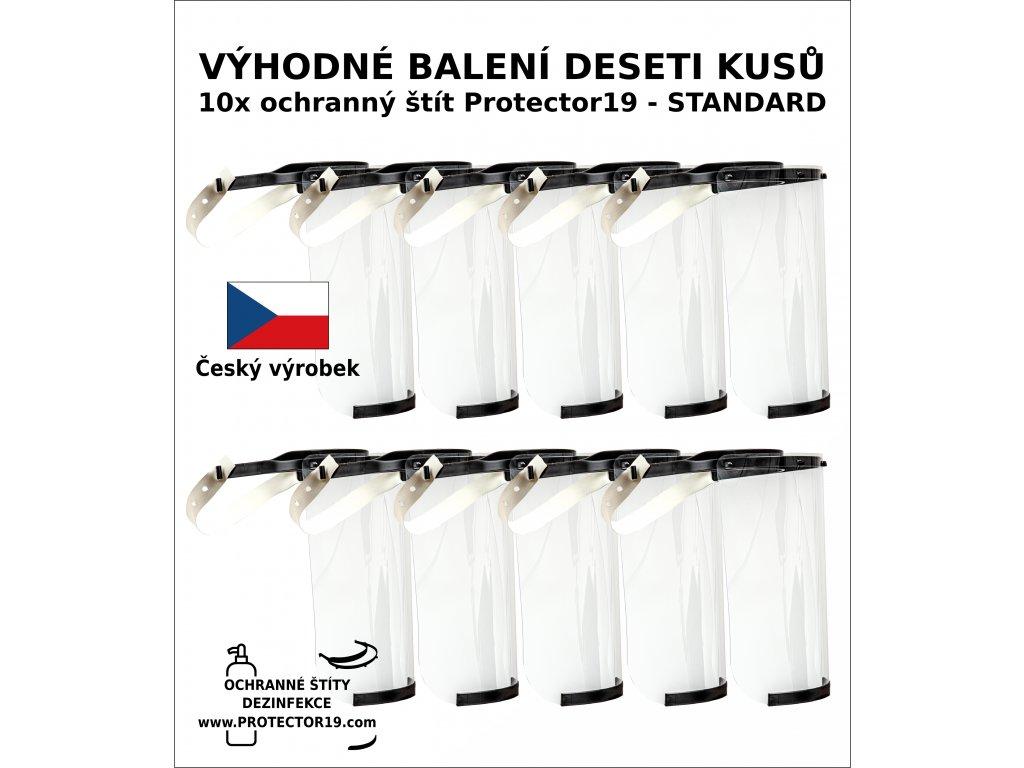 baleni 10 kusu ochranny stit protector19 oblicejovy stit