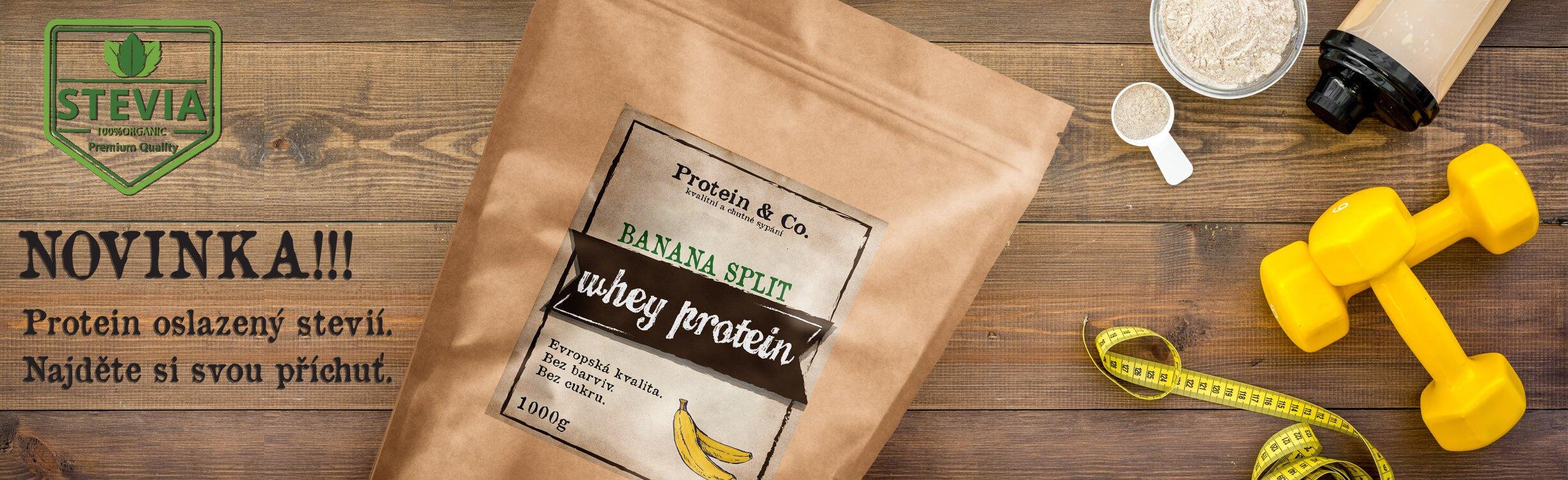 Protein&Co. protein slazený stevií