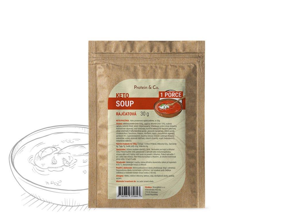 Keto proteinová polévka – vzorek 30 g