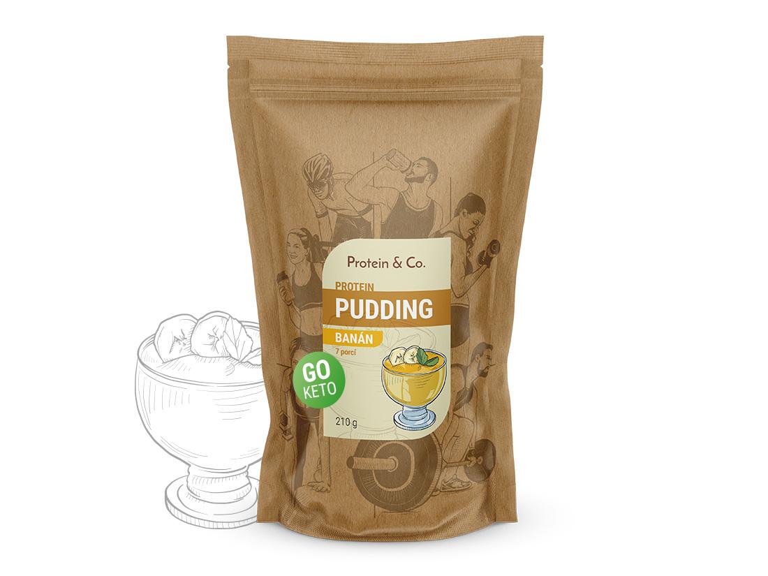 Protein&Co. Keto proteinový pudding Příchuť 1: Banana split, Množství: 600g