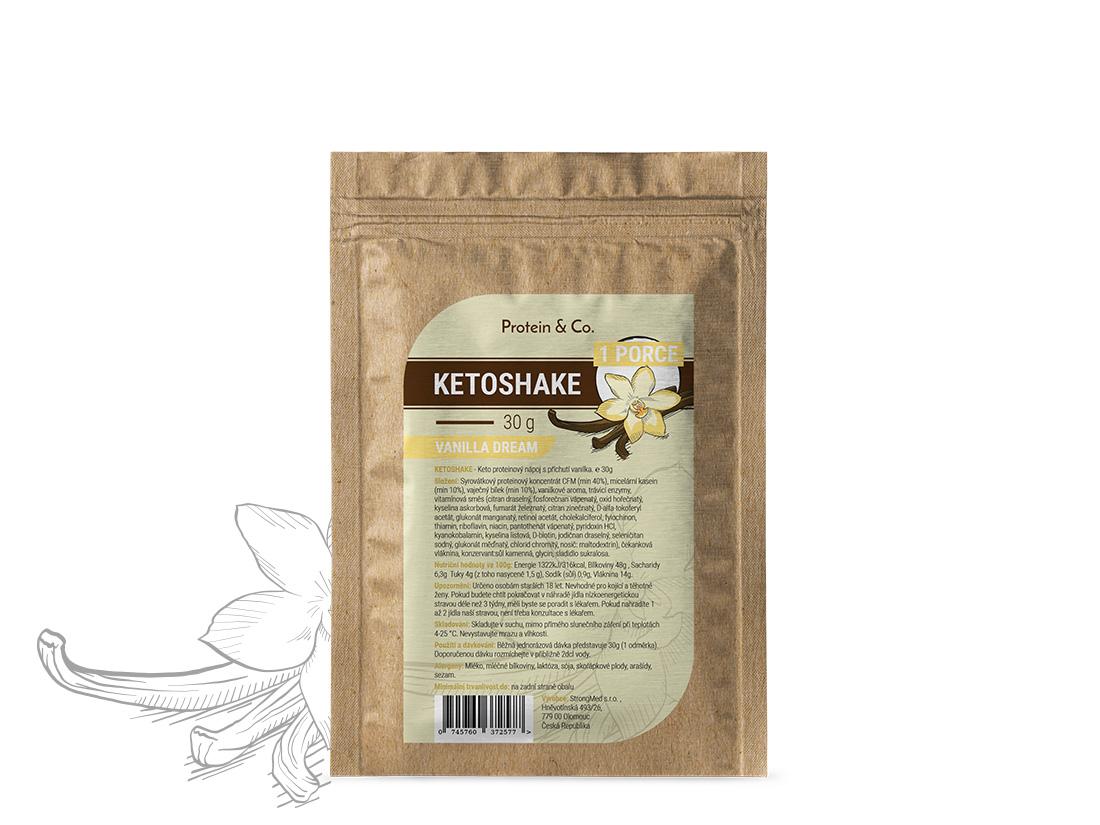 Protein&Co. Ketoshake vzorek – 30 g Příchuť 1: Chocolate brownie