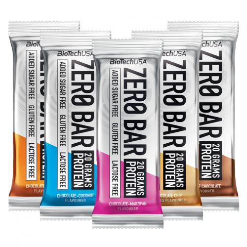 Levně Zero Bar 50 g (BioTech USA) Příchuť 1: chocolate-hazelnut
