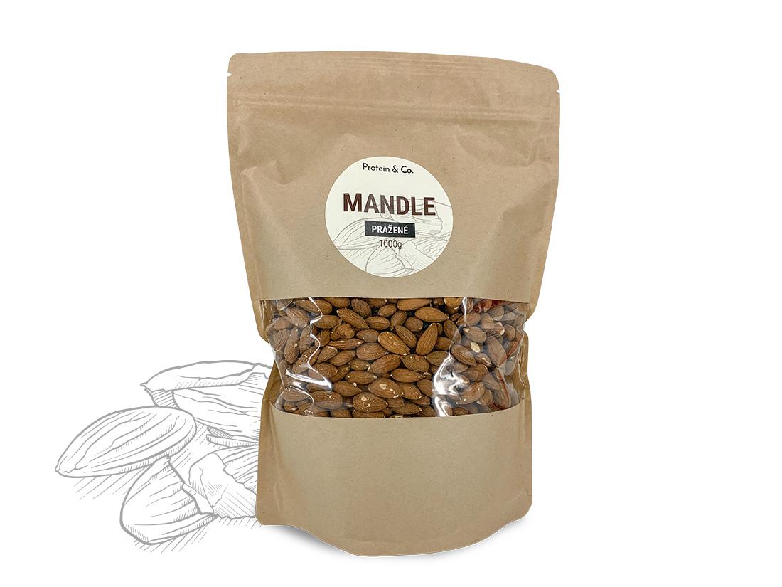 Levně Protein&Co. Mandle pražené Váha: 1000g