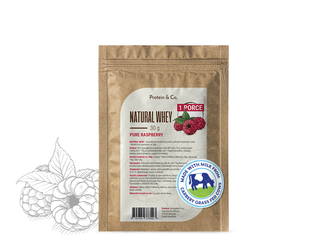 NATURAL WHEY - 30g Příchuť: Dried strawberries