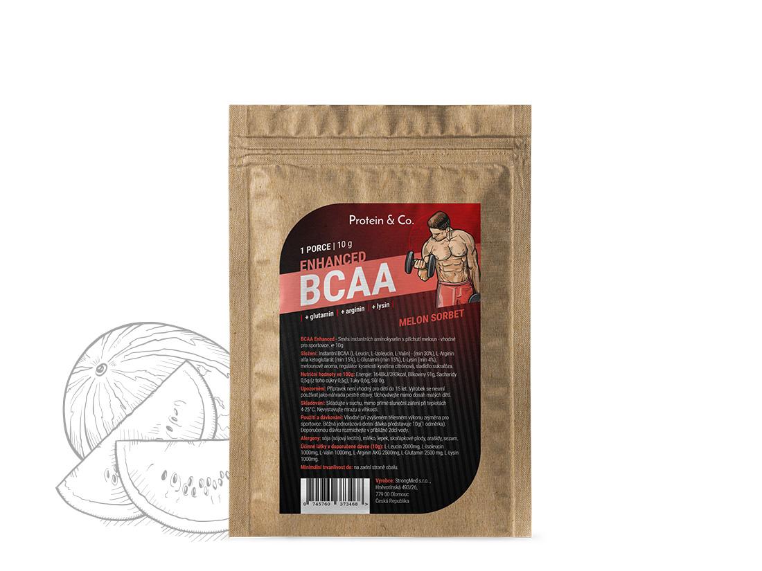 Protein&Co. BCAA ENHANCED 10 g Příchuť: sour apple