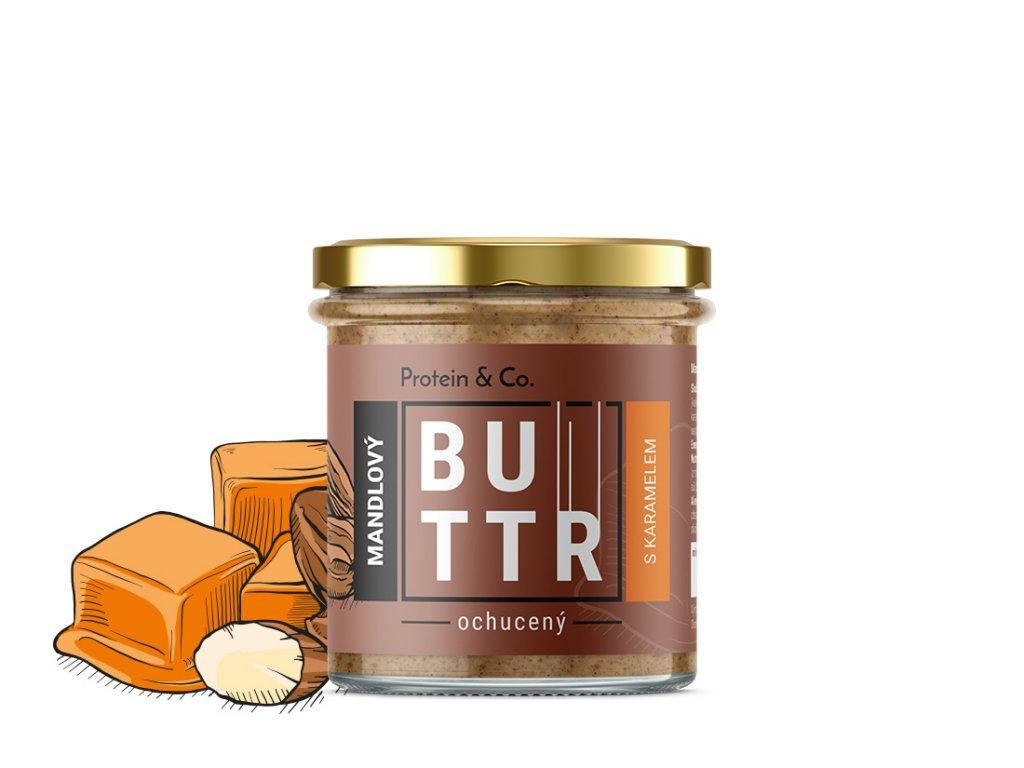 Protein&Co. Mandľový krém s karamelom 330 g