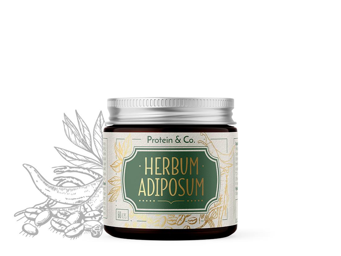 Protein&Co. Herbum adiposum – spaľovač tukov na prírodnej báze 60 cps