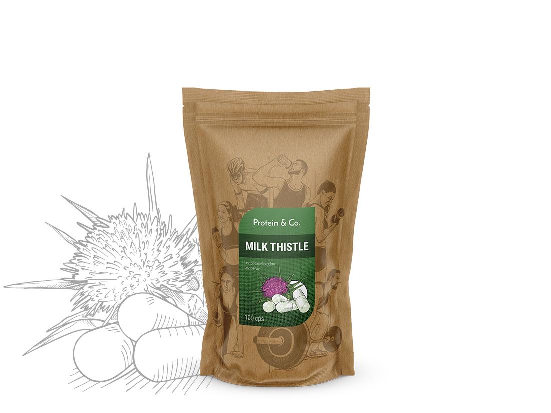 Protein&Co. Milk Thistle (ostropestřec mariánský) 100 kapsúl