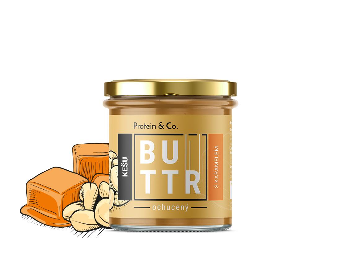 Protein&Co. Kešu krém s karamelom 330 g