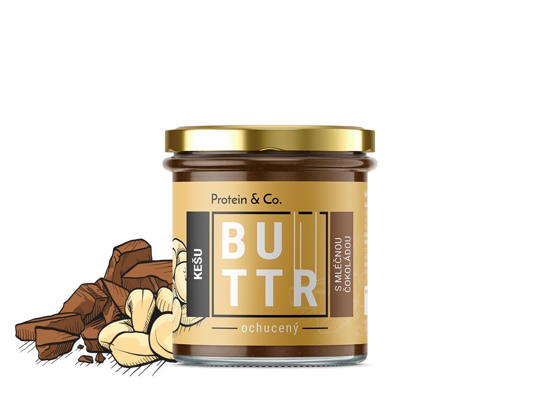 Protein&Co. Kešu krém s mliečnou čokoládou 330 g