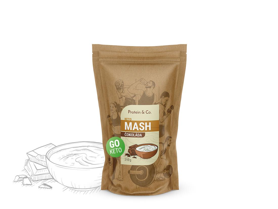 Protein&Co. Keto mash - proteínová diétna kaša Váha: 210 g, Príchut´: Čokoláda