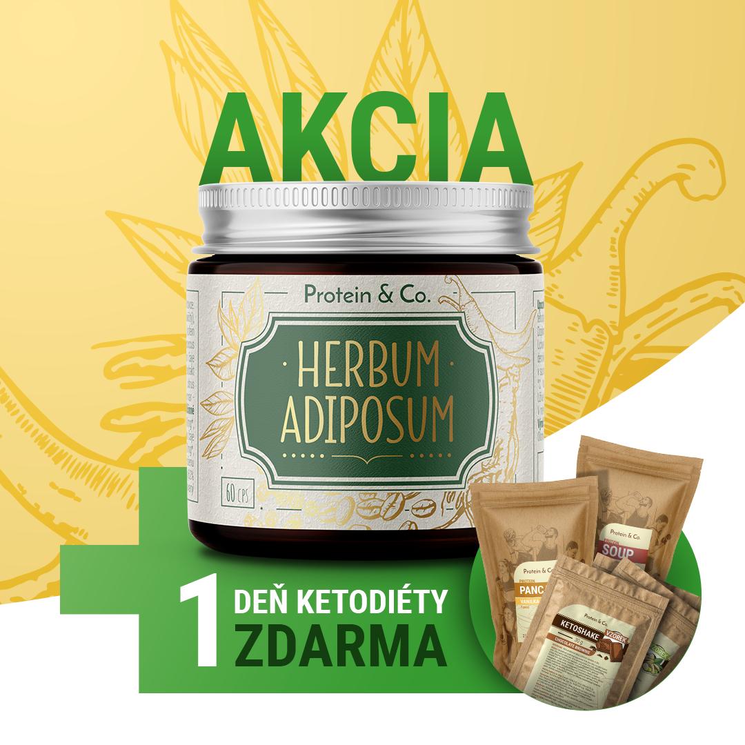 Protein&Co. Herbum adiposum + 1 deň ketodiéty zdarma