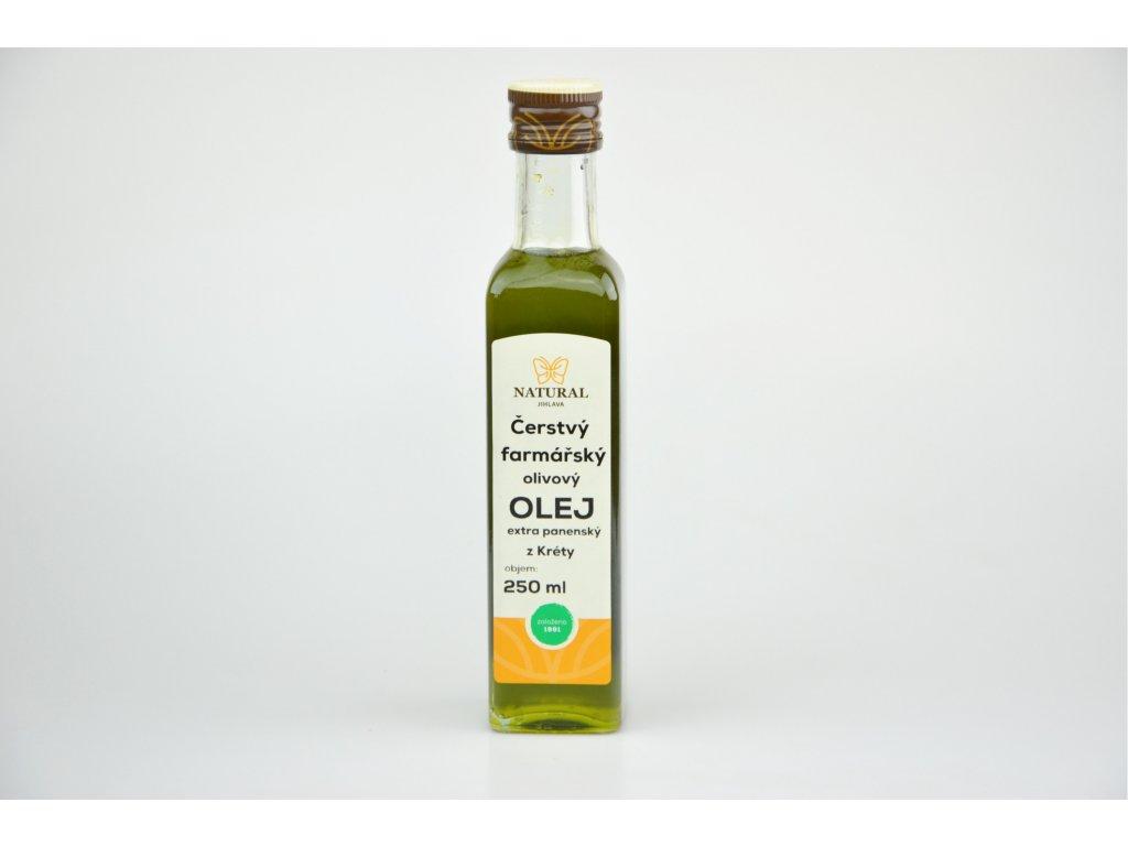 Natural Jihlava Čerstvý olivový extra panenský olej 250 ml