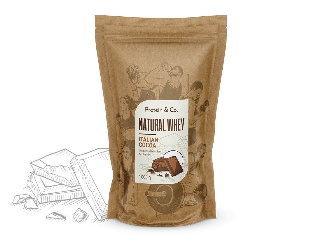 Protein&Co. NATURAL WHEY prémiový proteín bez chémie 2 kg Príchuť 1: Dried strawberries, Príchuť 2: Dried strawberries