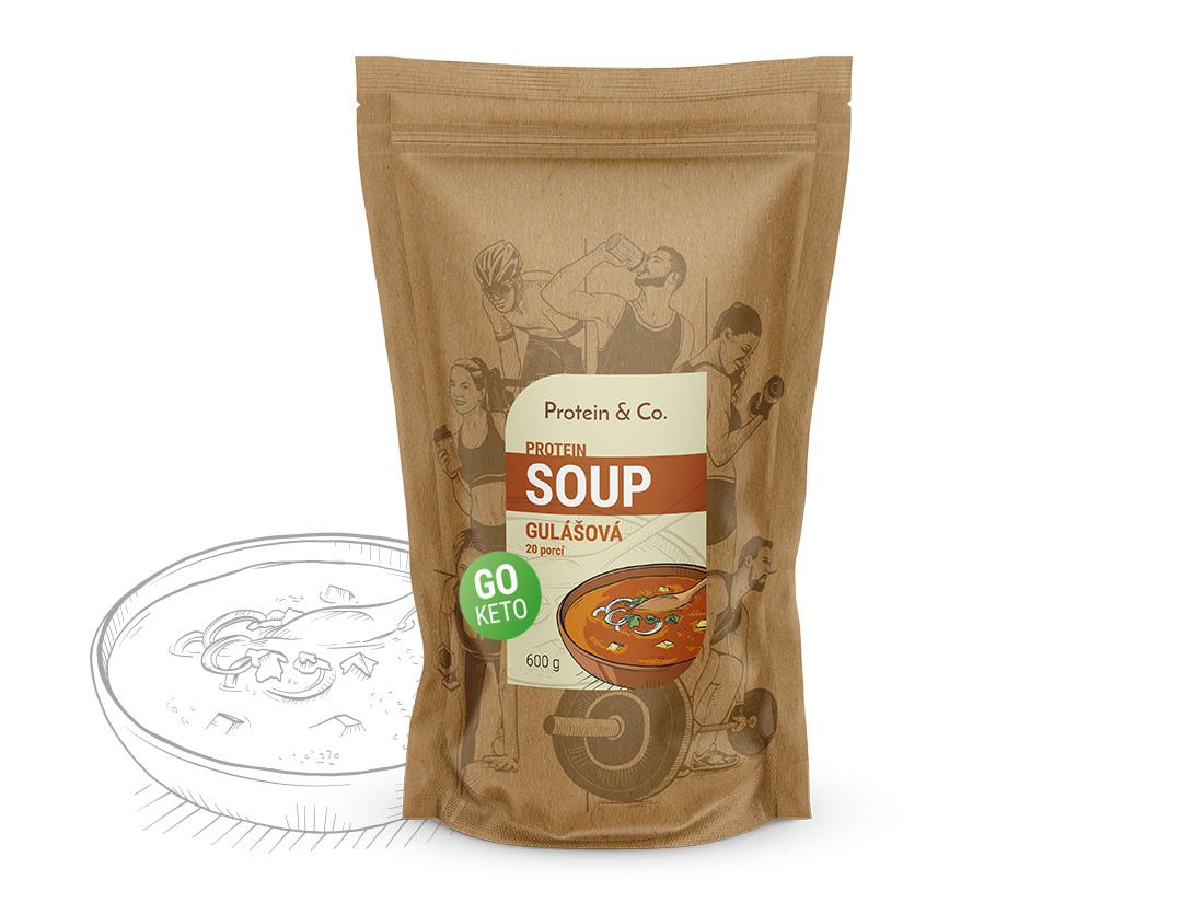 Protein&Co. Keto proteíová polievka Príchut´: Gulášová polievka, Množstvo: 600g