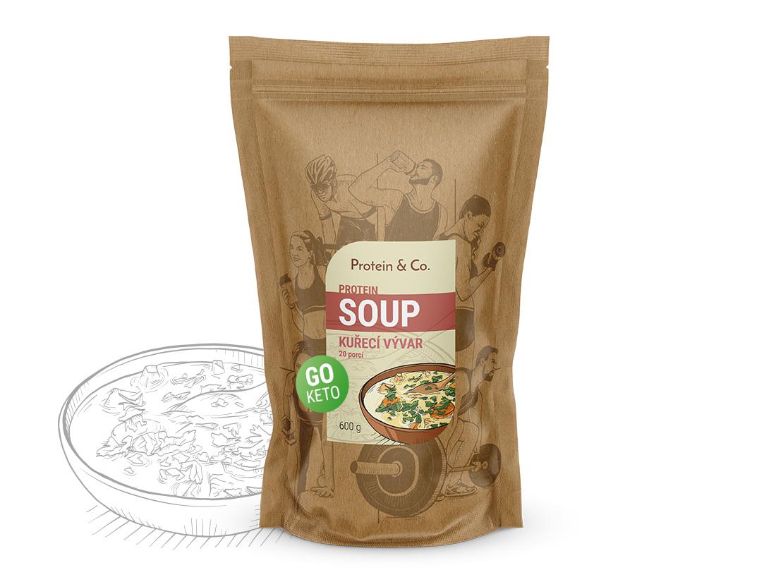 Protein&Co. Keto proteíová polievka Príchut´: Kurací vývar, Množstvo: 600g