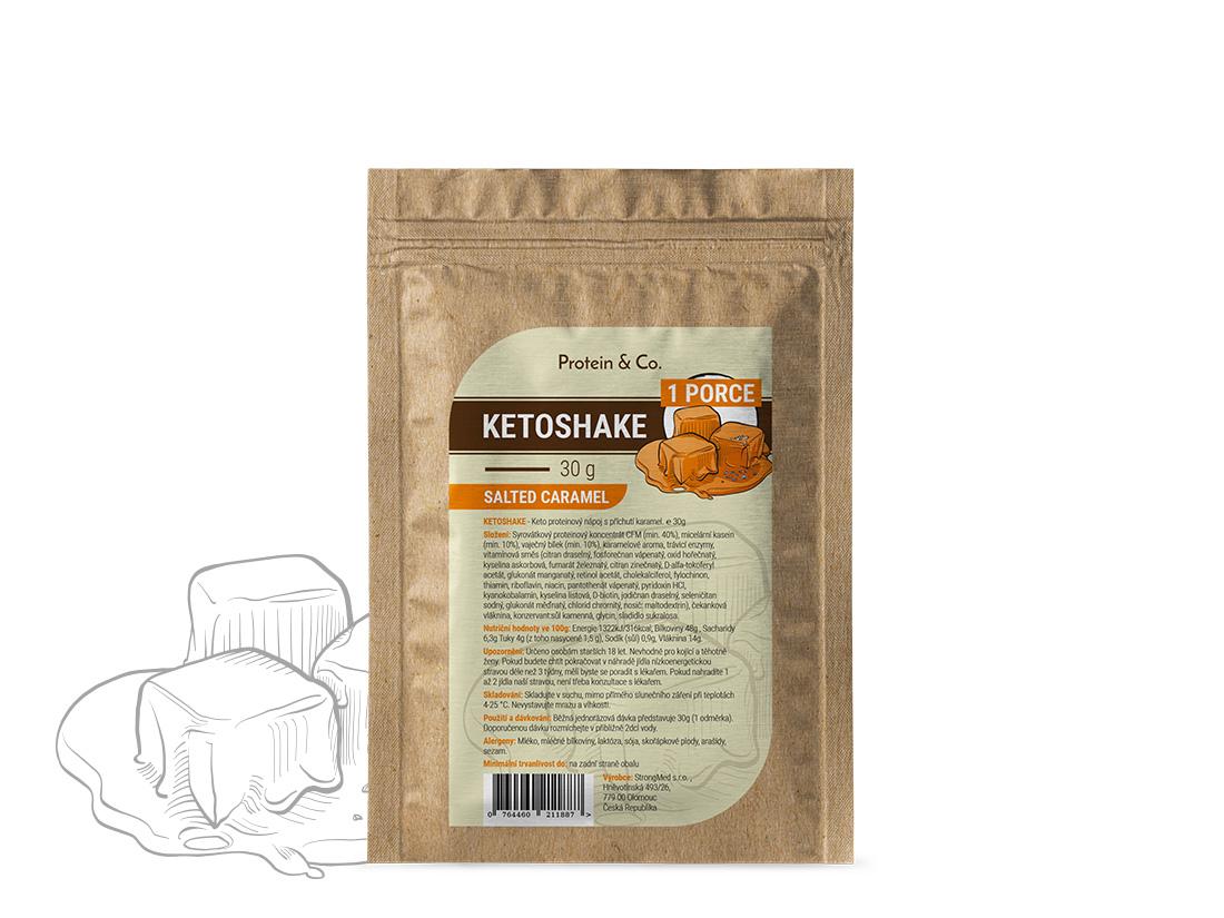 Protein&Co. Ketoshake vzorek – 30 g Príchut´: Strawberry milkshake