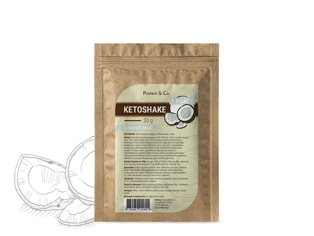 Protein&Co. Ketoshake vzorek – 30 g Príchut´: Pistacia dessert