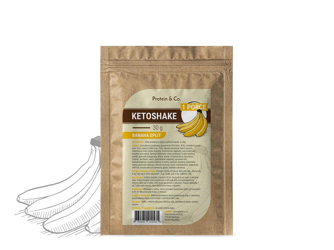 Protein&Co. Ketoshake vzorek – 30 g Príchut´: Chocolate brownie