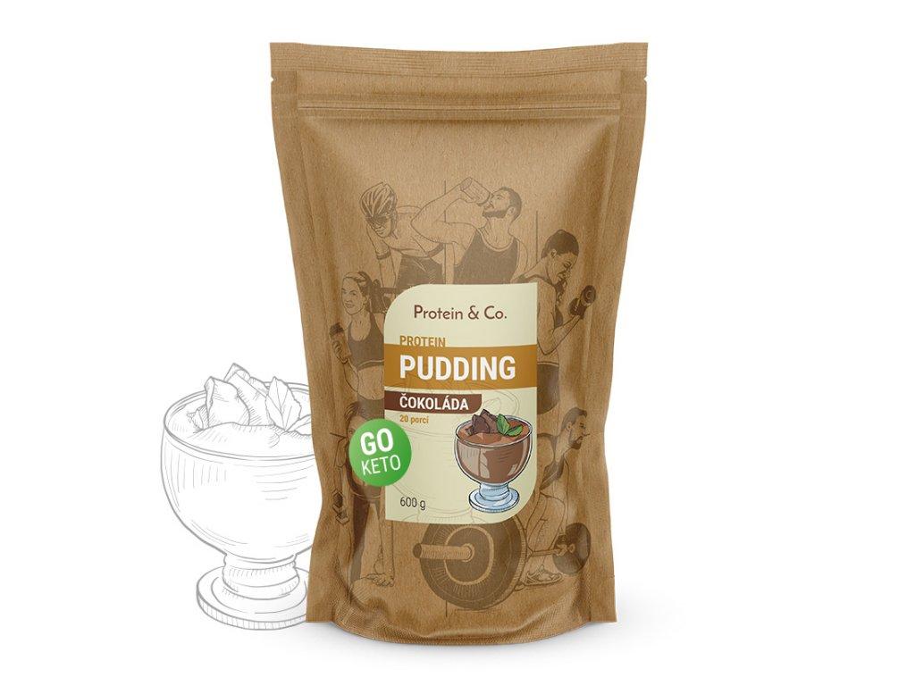 Protein&Co. Keto proteínový pudding Váha: 600 g, Príchut´: Čokoláda