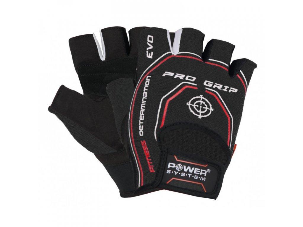 Fitness rukavice PRO GRIP EVO (POWER SYSTEM) Veľkosť: L, Barva: čierna
