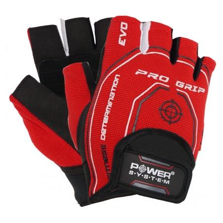 Fitness rukavice PRO GRIP EVO (POWER SYSTEM) Veľkosť: M, Barva: Červená