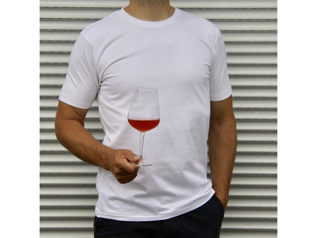 Triko basic bílé (Velikost L)